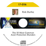 Rick Durfee - The 10 Most Common Asset Protection Blunders