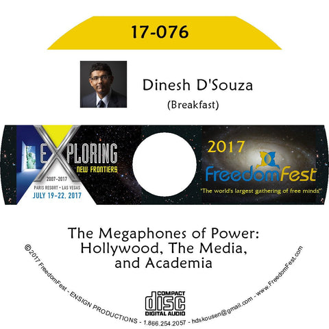 Dinesh D'Souza - Breakfast: The Megaphones of Power: Hollywood, The Media, and Academia