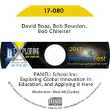 David Boaz, Bob Bowdon, Bob Chitester - PANEL: School Inc: Exploring Global Innovation in Education, and Applying it Here