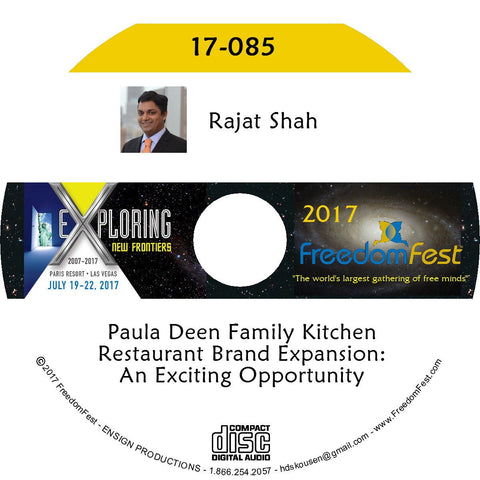 Rajat Shah - Paula Deen Family Kitchen Restaurant Brand Expansion: An Exciting Opportunity