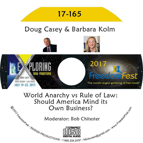 Doug Casey, Barbara Kolm - PANEL: World Anarchy vs Rule of Law: Should America Mind its Own Business?