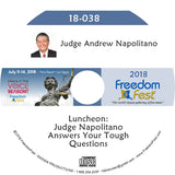 Judge Andrew Napolitano - Luncheon: Judge Napolitano Answers Your Tough Questions