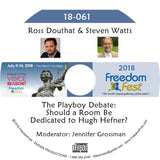 Ross Douthat, Steven Watts - The Playboy Debate: Should a Room Be Dedicated to Hugh Hefner?