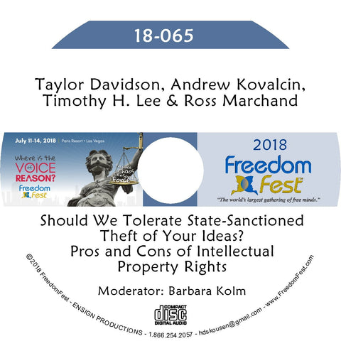 Davidson, Kovalcin, Lee, Marchand - Should We Tolerate State-Sanctioned Theft of Your Ideas? Pros and Cons of Intellectual Property Rights