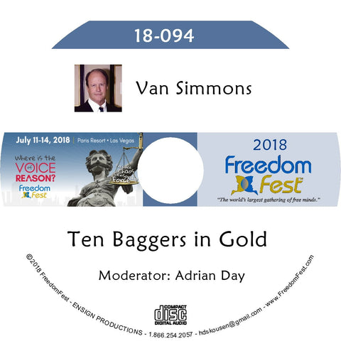 Van Simmons - Ten Baggers in Gold