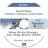Bailey, Gillespie, Sullum - Where We Are Winning I: Guns, Drugs, Biotech, Lifestyle