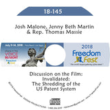 Malone, Martin, Massie - Invalidated: The Shredding of the US Patent System (A Film Screening and Discussion)