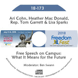 Cohn, Mac Donald, Garrett, Sparks - Free Speech on Campus: What It Means for the Future