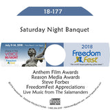 Saturday Night Banquet - Reason Media Awards, Anthem Film Awards, and The Salamanders