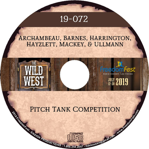 Shellye Archambeau, Jeff Barnes, Kevin Harrington, Jeffrey Hayzlett, John Mackey, Bernt Ullmann - Pitch Tank Competition