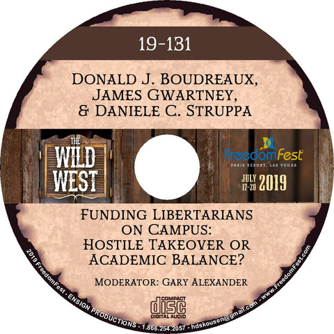 Donald J. Boudreaux, James Gwartney, Daniele C. Struppa - Funding Libertarians on Campus: Hostile Takeover or Academic Balance?