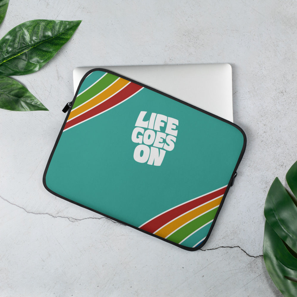 Life Goes On | Beatles Wisdom Laptop Sleeve