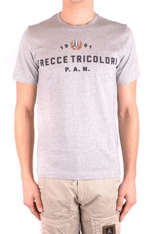 Aeronautica Militare Grey Military Style T-Shirt front