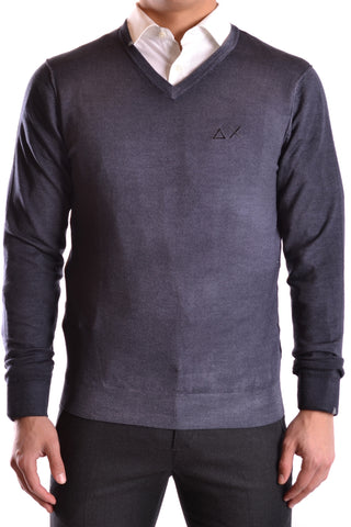 SUN68 Light Grey Sweater front