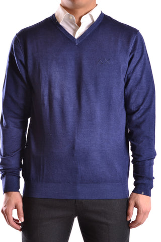 SUN68 Dark Blue Sweater front