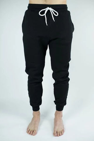 Craft of Lyfe Black Joggings front with white laces