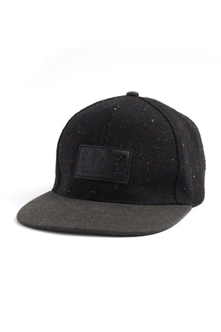 PX Black Flat Brim Cap without model front view