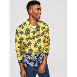 SHEIN bahama mama tropical shirt front buttons up