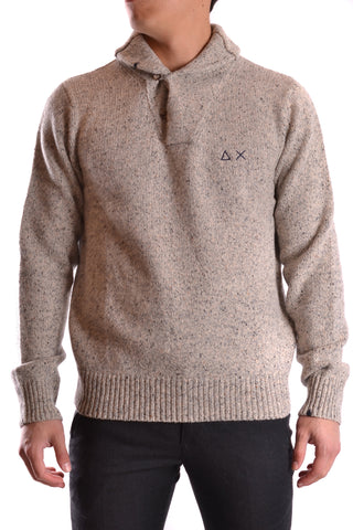 SUN68 Warm Grey Sweater front