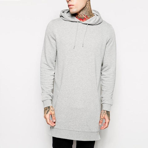 Extended Solid Color Hoodie In Different Colors Hoodies and Sweatshirts - Stylish Portal