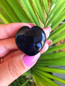 Blue Goldstone Heart