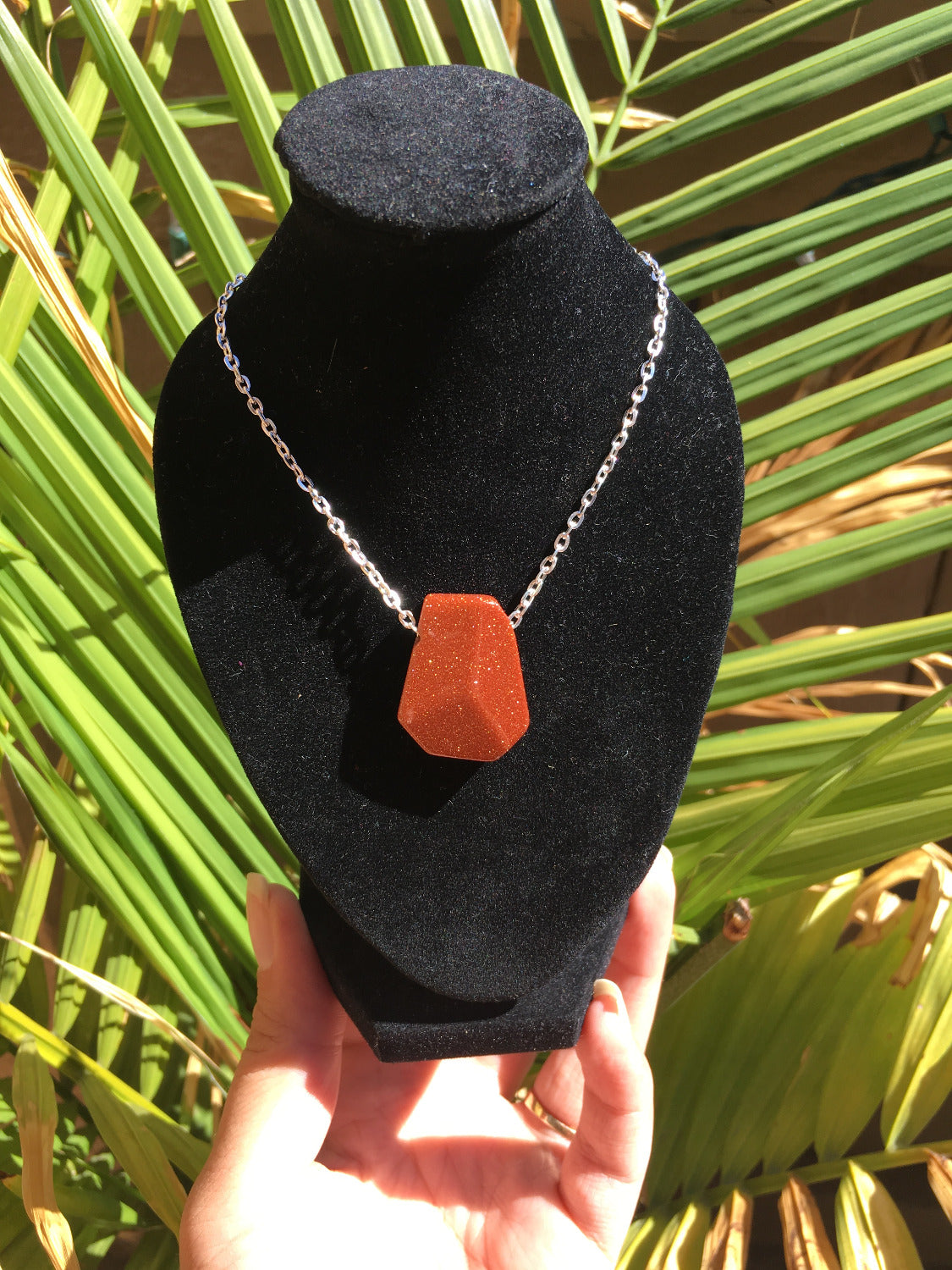 Goldstone Necklace