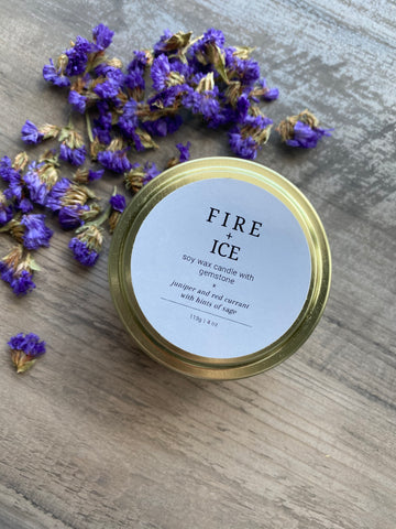 Fire And Ice Gemstone Candle