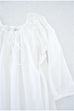 Gathered Nightgown, White