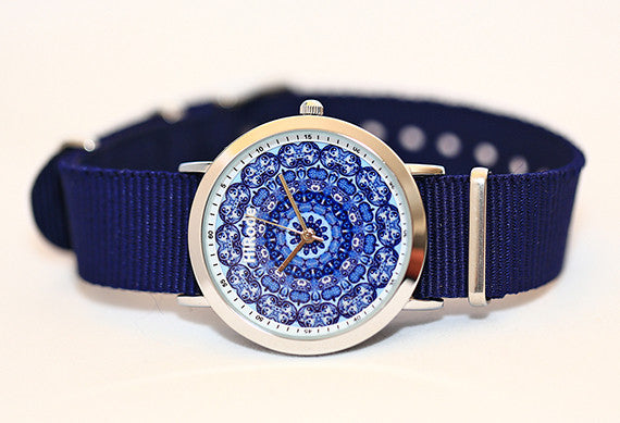 Be yang - Kaleidoscope Yin Yang patterned Mandala watch