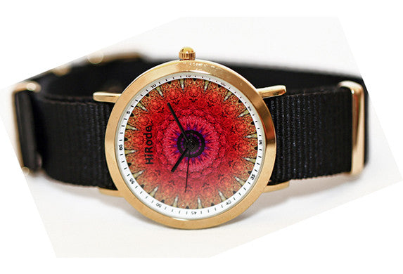 Blaze - Red/Yellow and pink sun inspired Kaleidoscope watch - WATCHUS