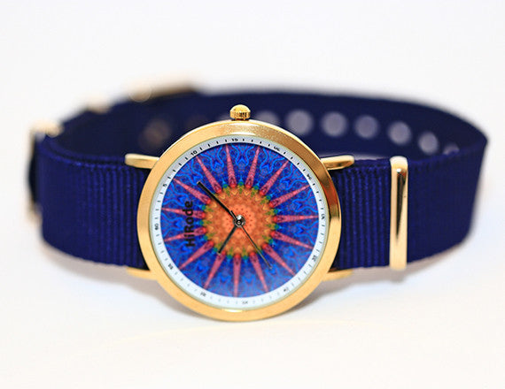 Mermaids - Blue Pink and yellow Bohemian/Mandala style watch - WATCHUS