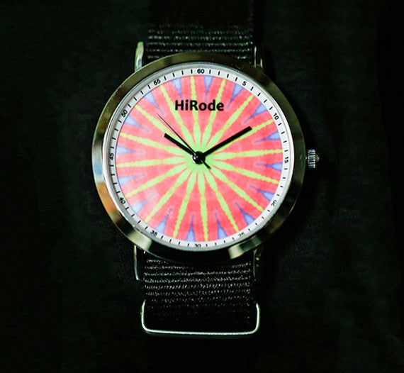 Pink Hippie-Tie Dye inspired watch