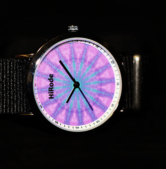 Purple Boho- Tie dye watch