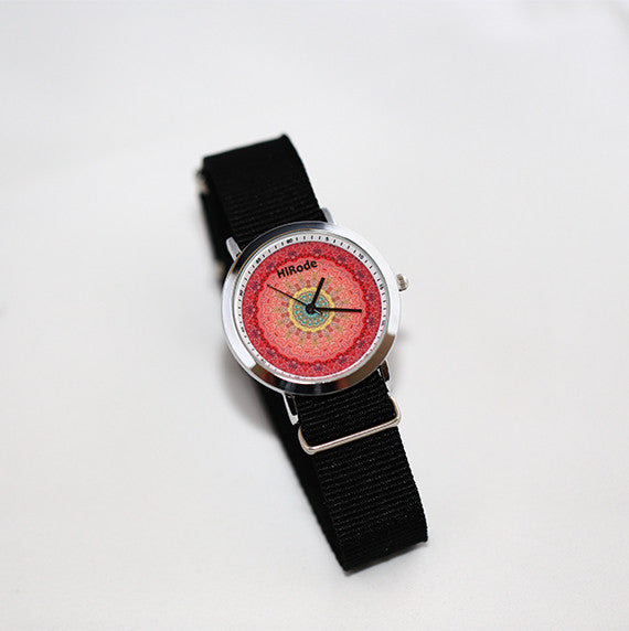 The Fox - Red toned Mandala watch