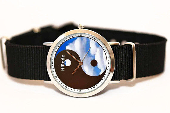 Yin Yang - cloudy design watch