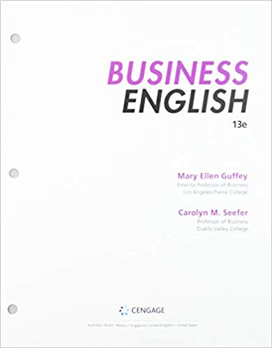 Bundle: Business English, Loose-leaf Version, 13th + MindTap 1 term Printed Access Card 13th Edition