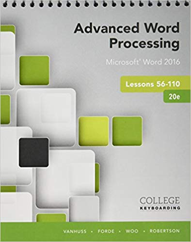 ADVANCED WORD PRO.,LESS.56-110-W/ACCESS