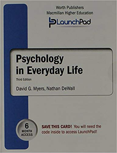 LAUNCHPAD FOR PSYCHOLOGY IN EVERYDAY LIFE 3RD