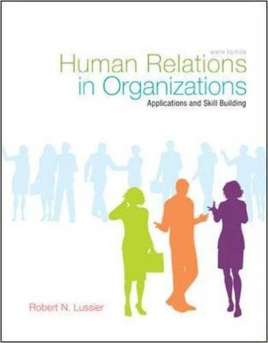 HUMAN RELATIONS IN ORGANIZATIONS-TEXT