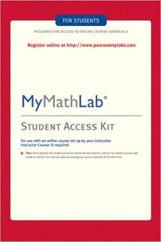 MYMATHLAB - STUDENT ACCESS KIT