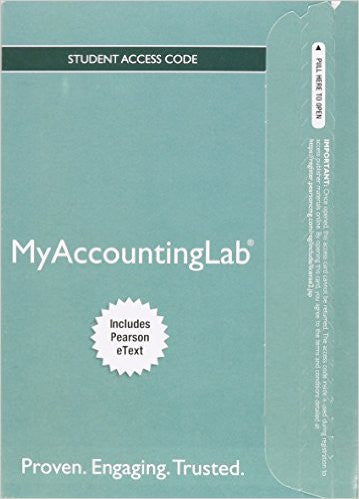 MY ACCOUNTING LAB WITH PEARSON ETEXT-ACCESS CARD