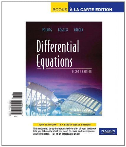 DIFFERENTIAL EQUATIONS (LOOSELEAF)