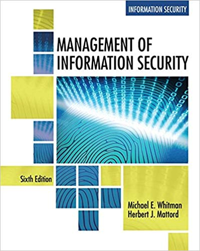 Management of Information Security (MindTap Course List) 6th Edition