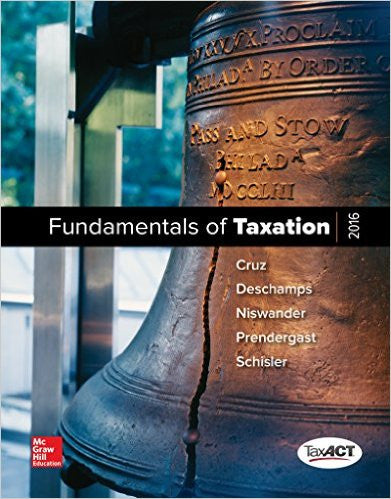 FUNDAMENTALS OF TAXATION 2016-W/CD