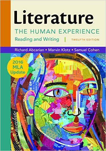 LITERATURE:HUMAN EXPER.,READ.,W/2016 MLA UPDATE