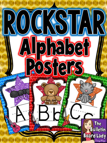 Alphabet Posters Rock Star Theme
