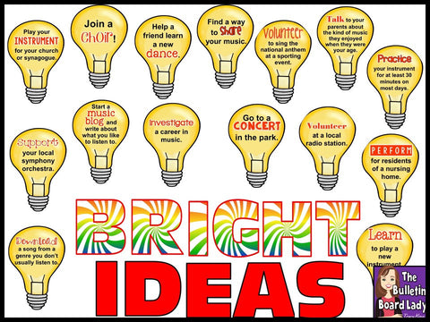 Bright Ideas Music Bulletin Board