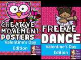 Valentine's Day Freeze Dance and Creative Movement
