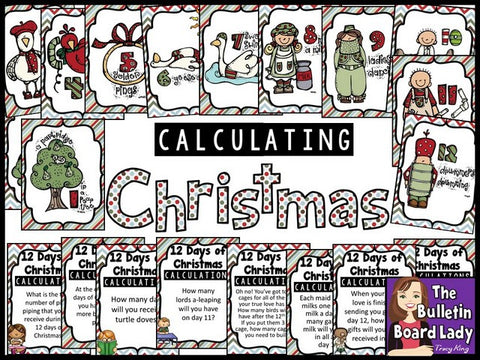 Calculating Christmas -Christmas Math Bulletin Board