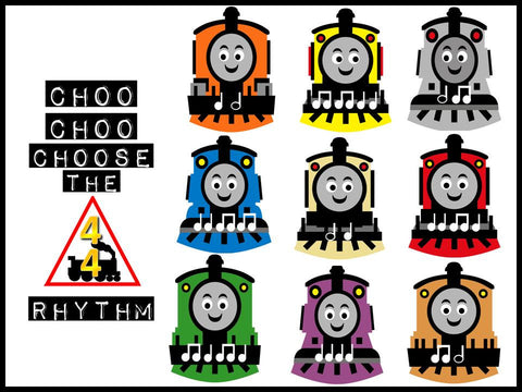 Choo Choo Choose the Rhythm Music Bulletin Board